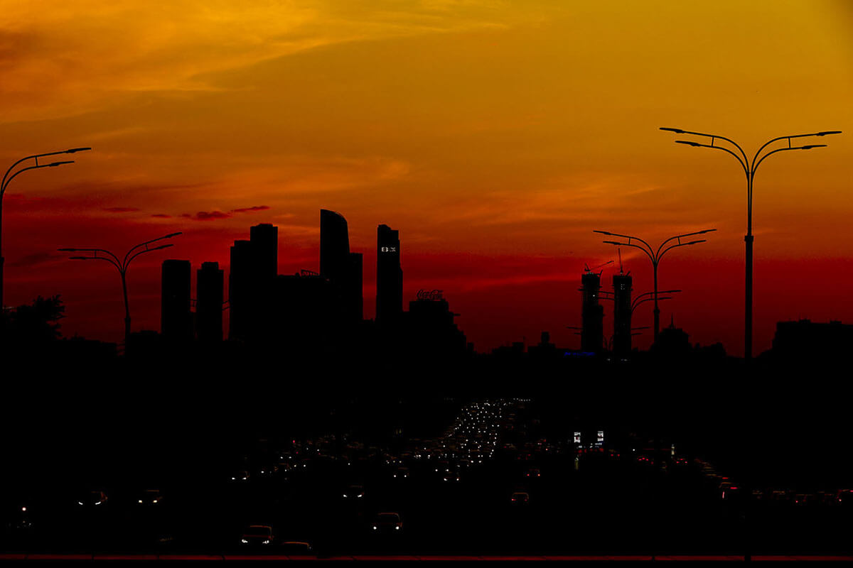Moskova\'da gün batımı