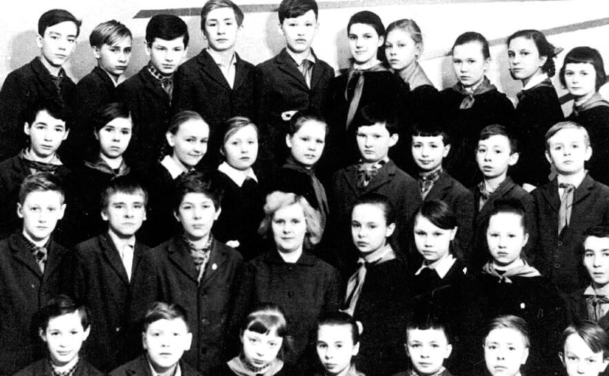 Rusya Devlet Başkanı Vladimir Putin okul resmi (Kişisel arşivi Kremlin.ru)