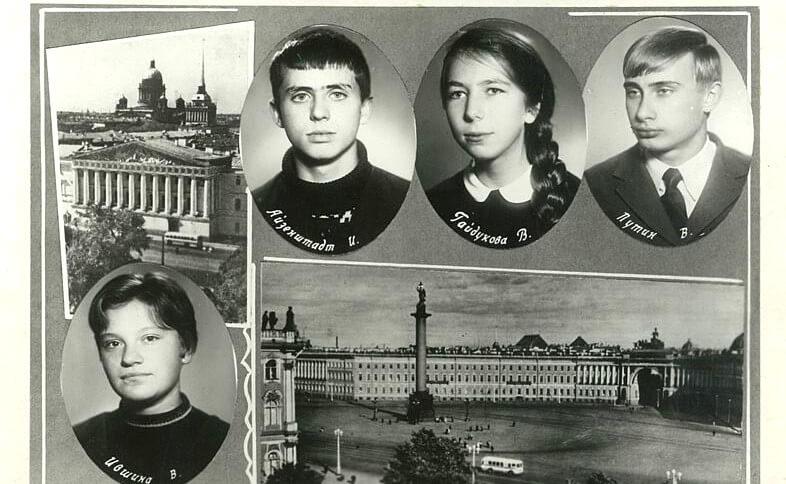 Rusya Devlet Başkanı Vladimir Putin okuldan resmi (Kişisel arşivi Kremlin.ru)