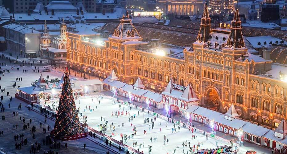 Kızıl Meydan -Kışın açılan dev buz pateni pisti